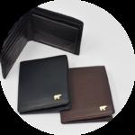 国産の上質なカーフスキン★二つ折財布